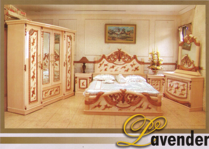 kamar set clasic, klasik kamar set, lavender bedroom set